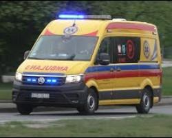 Alarmowo nowa żółta karetka VW Crafter (P) SP ZOZ Zduńska Wola